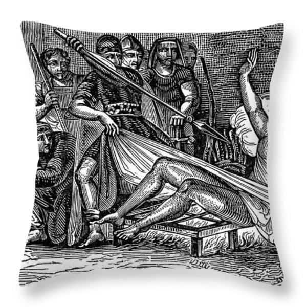 Saint Lawrence (c225-258) Throw Pillow by Granger