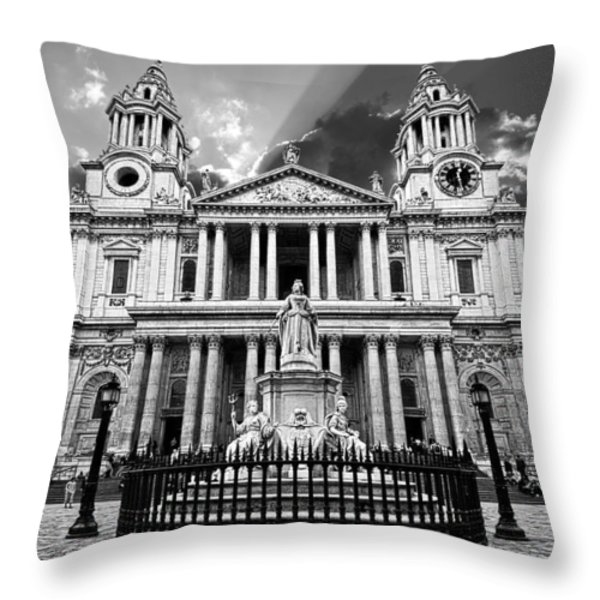 Saint Paul's Cathedral Throw Pillow by Meirion Matthias