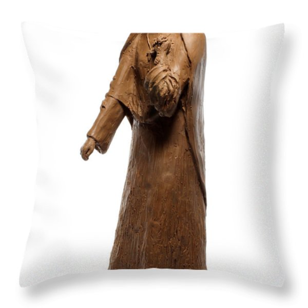 Saint Rose Philippine Duchesne sculpture Throw Pillow by Adam Long