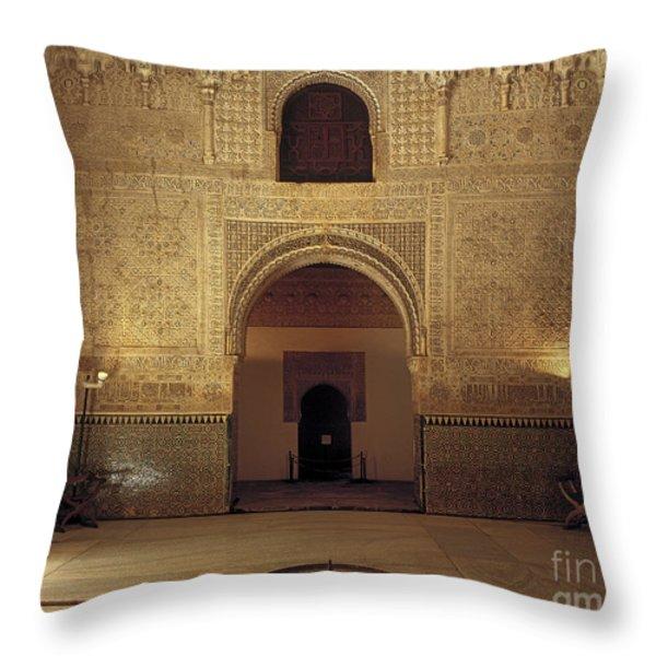 Sala de las dos Hermanas Throw Pillow by Guido Montanes Castillo