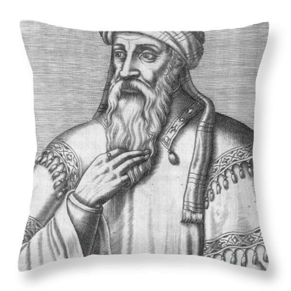 Saladin, Sultan Of Egypt And Syria Throw Pillow by Photo Researchers