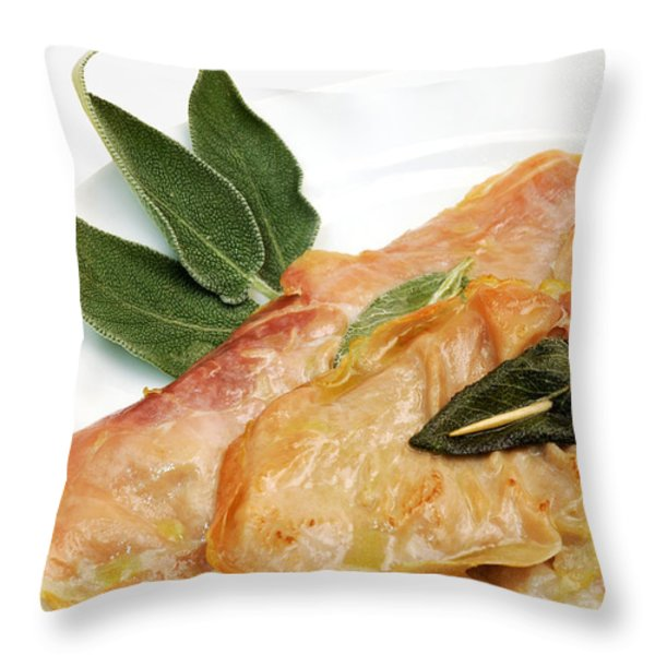 Saltinbocca Alla Romana Throw Pillow by Fabrizio Troiani