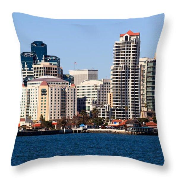 San Diego Buildings Photo Throw Pillow by Paul Velgos