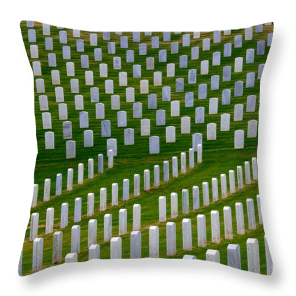 San Diego Military Memorial 2 Throw Pillow by Bob Christopher