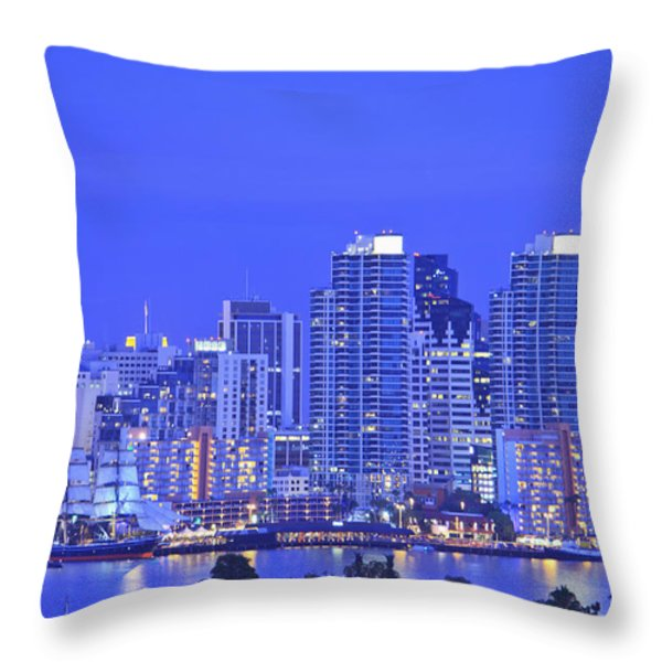 San Diego Skyline And Harbour Island Throw Pillow by Stuart Westmorland