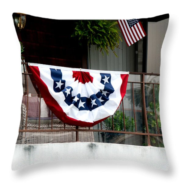 San Diego Waterfront Throw Pillow by Carol Ailles