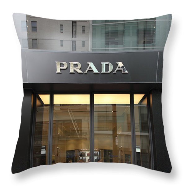 San Francisco - Maiden Lane - Prada Fashion Store - 5D17798 Throw Pillow by Wingsdomain Art and Photography