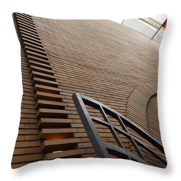 San Francisco - Maiden Lane - Xanadu Gallery - Frank Lloyd Architecture - 5D17795 Throw Pillow by Wingsdomain Art and Photography