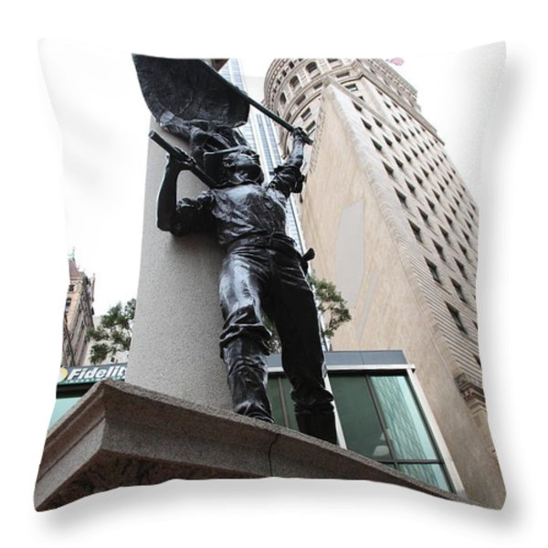 San Francisco - Monument On Market Street - 5d17845 Throw Pillow by Wingsdomain Art and Photography