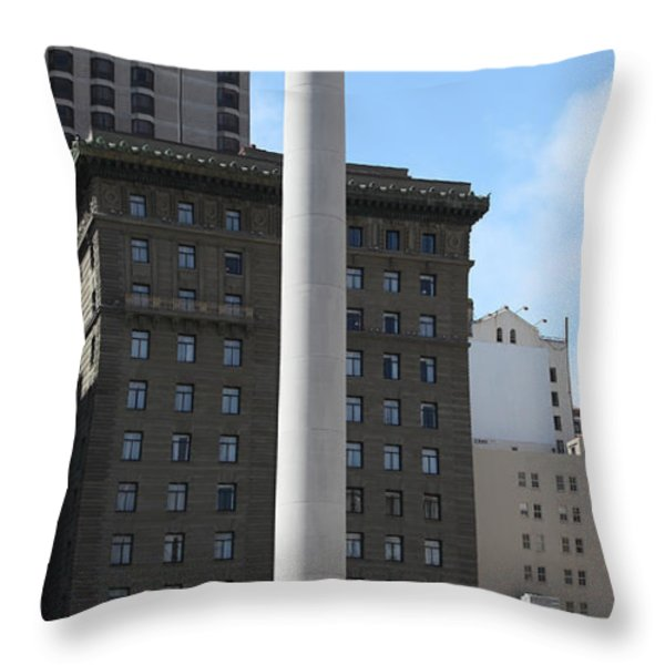 San Francisco - Union Square - 5D17934 Throw Pillow by Wingsdomain Art and Photography