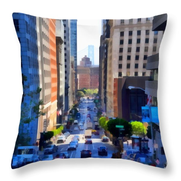 San Francisco California Street  . 7d7186 Throw Pillow by Wingsdomain Art and Photography
