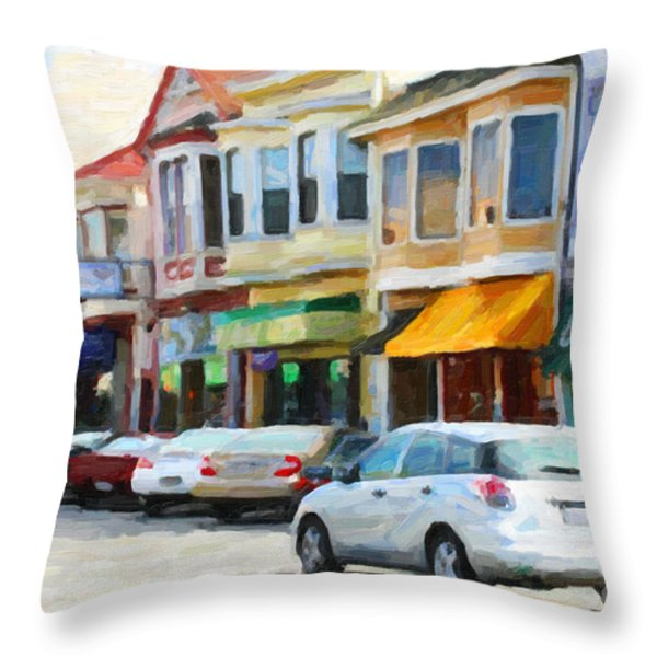 San Francisco Clement Street 2 Throw Pillow by Wingsdomain Art and Photography