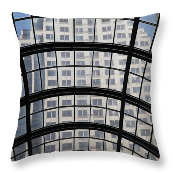 San Francisco Galleria - 5d17073 Throw Pillow by Wingsdomain Art and Photography