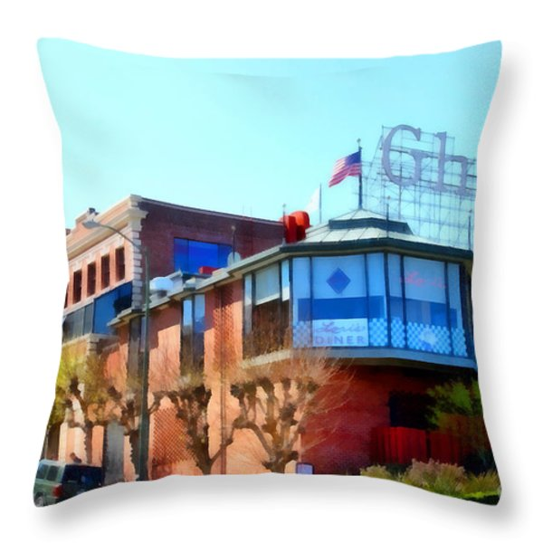San Francisco Ghirardelli Chocolate Factory . 7d14093 Throw Pillow by Wingsdomain Art and Photography