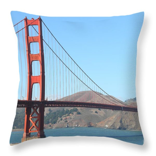 San Francisco Golden Gate Bridge . 7D7802 Throw Pillow by Wingsdomain Art and Photography