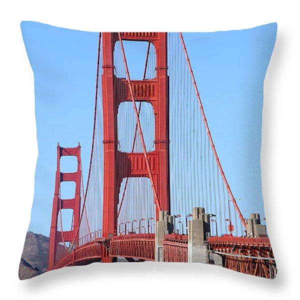 San Francisco Golden Gate Bridge . 7d8164 Throw Pillow by Wingsdomain Art and Photography