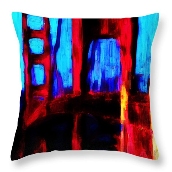 San Francisco Golden Gate Bridge Throw Pillow by Wingsdomain Art and Photography