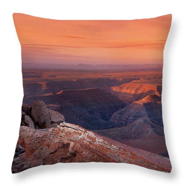 San Juan River Light Throw Pillow by Leland D Howard