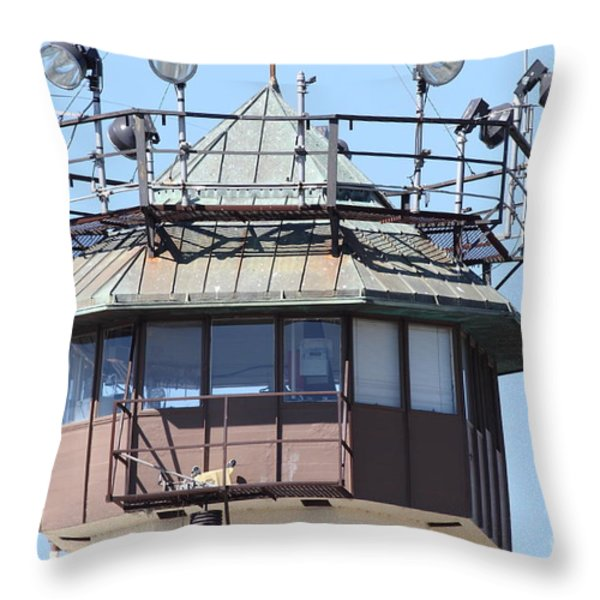 San Quentin State Prison In California - 7d18534 Throw Pillow by Wingsdomain Art and Photography