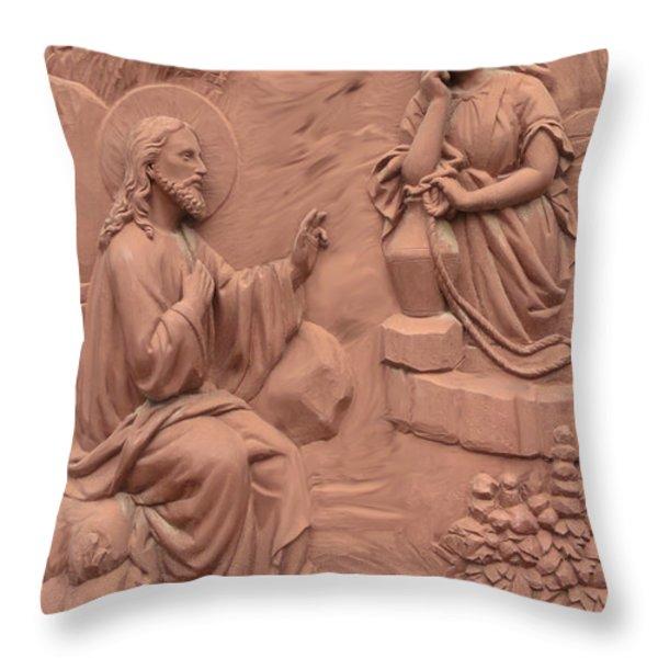 San Sebastian Door Art Throw Pillow by Al Bourassa