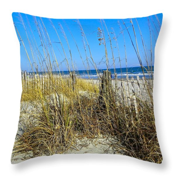 Sand Dunes Throw Pillow by Eve Spring