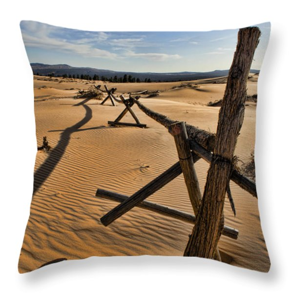 Sand Throw Pillow by Heather Applegate