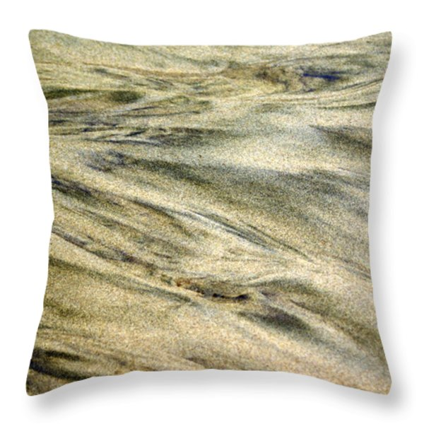 Sand Pattern Throw Pillow by Marty Koch