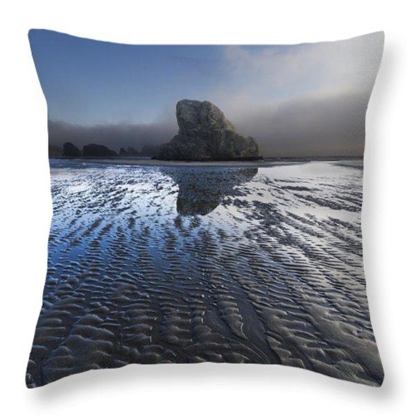 Sand Sculptures Throw Pillow by Debra and Dave Vanderlaan