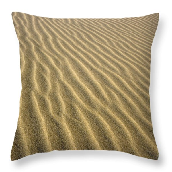 Sandhills Throw Pillow by MotHaiBaPhoto Prints