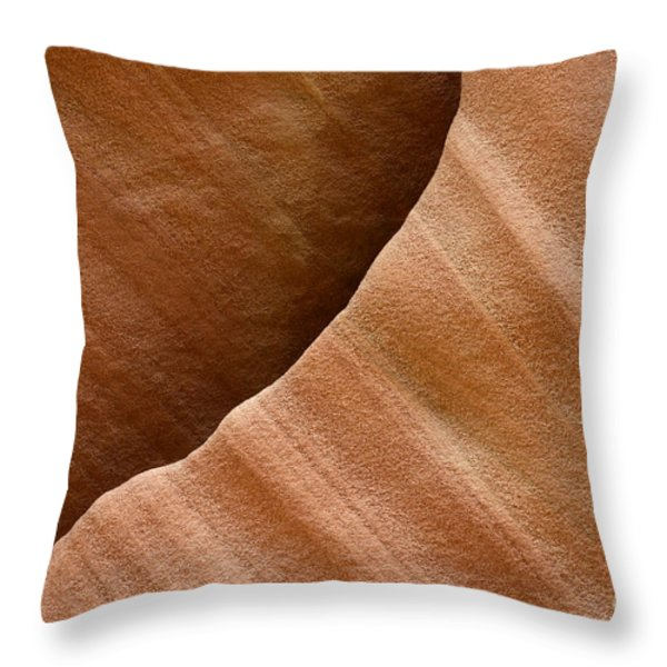 Sandstone Detail Throw Pillow by Bob Christopher