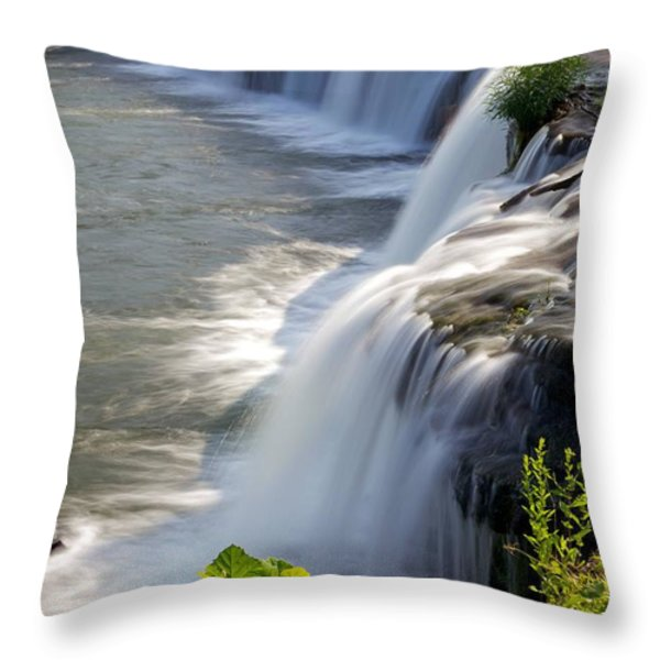 Sandstone Falls Wv Throw Pillow by Sean Cupp
