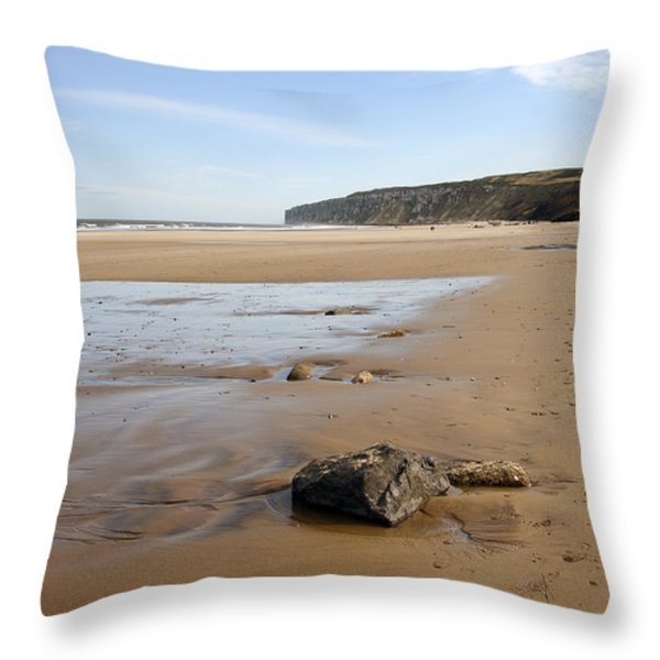 Sandy Beach Throw Pillow by Svetlana Sewell