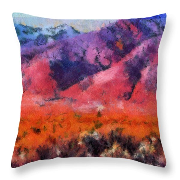 Sangre de Cristos -- Cezanne Throw Pillow by Charles Muhle