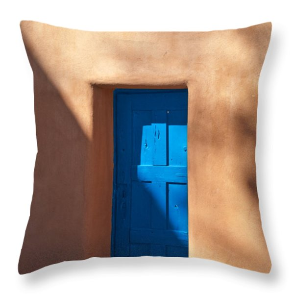 Santa Fe Portal Throw Pillow by Steve Gadomski