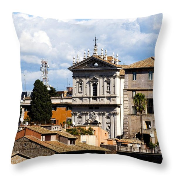 Santi domenico e Sisto Throw Pillow by Fabrizio Troiani
