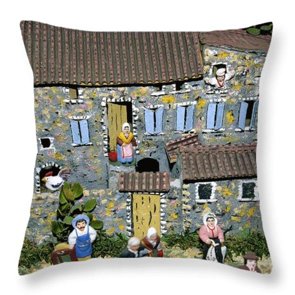 Santons. Provence Throw Pillow by BERNARD JAUBERT