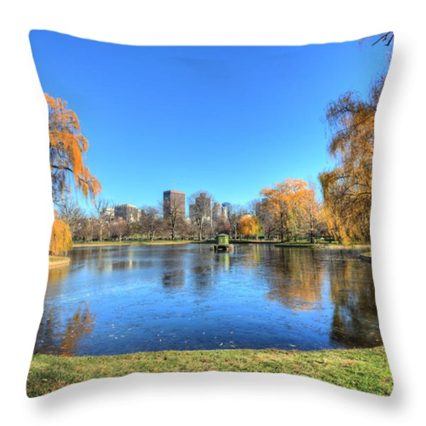 Saturday in the Park Throw Pillow by JC Findley
