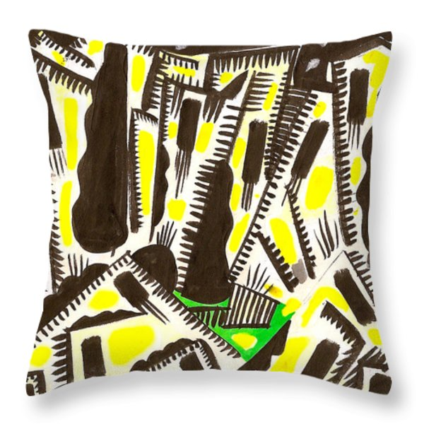 Saturday Night Headed For The City Throw Pillow by Al Goldfarb