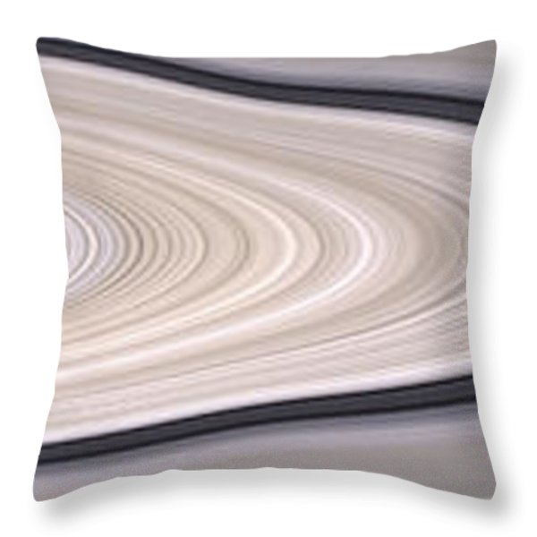 Saturns Ring System Throw Pillow by Stocktrek Images