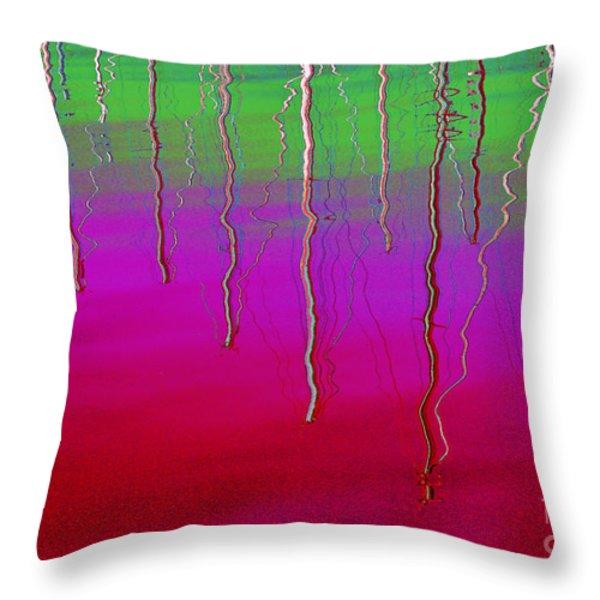 Sausalito Bay California In Color Throw Pillow by Ausra Paulauskaite