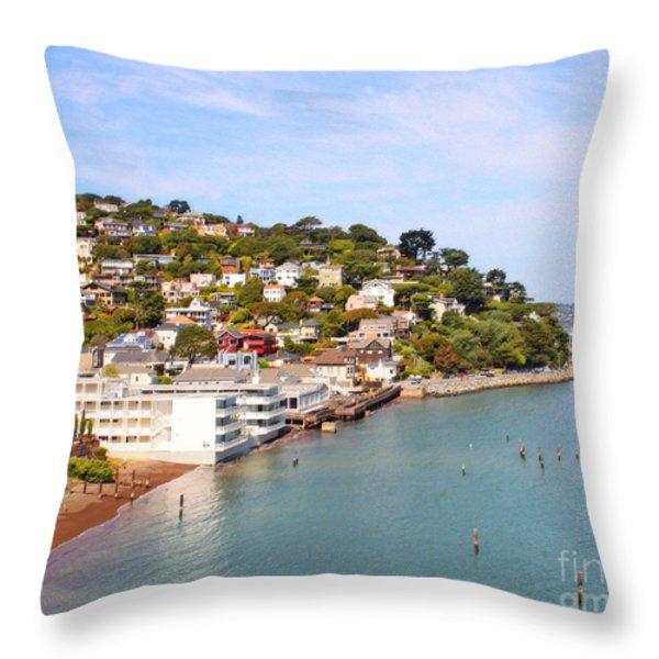 Sausalito California Throw Pillow by Jack Schultz