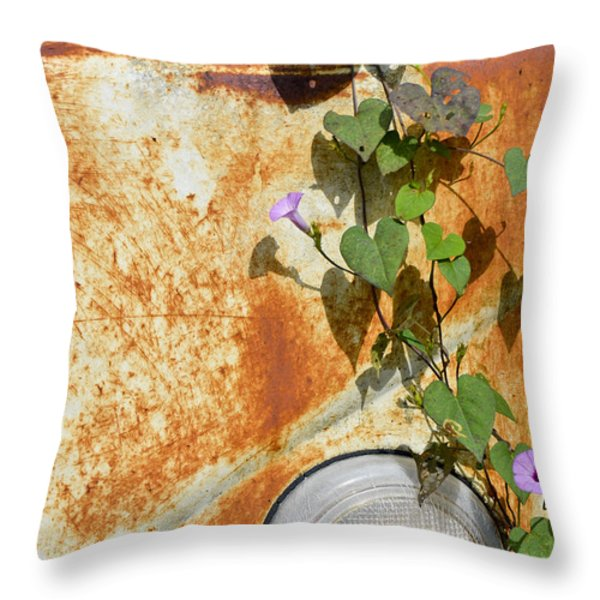 Say Goodbye Throw Pillow by Carolyn Marshall