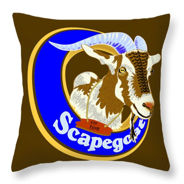 Scapegoat For Hire Throw Pillow by Laura Brightwood