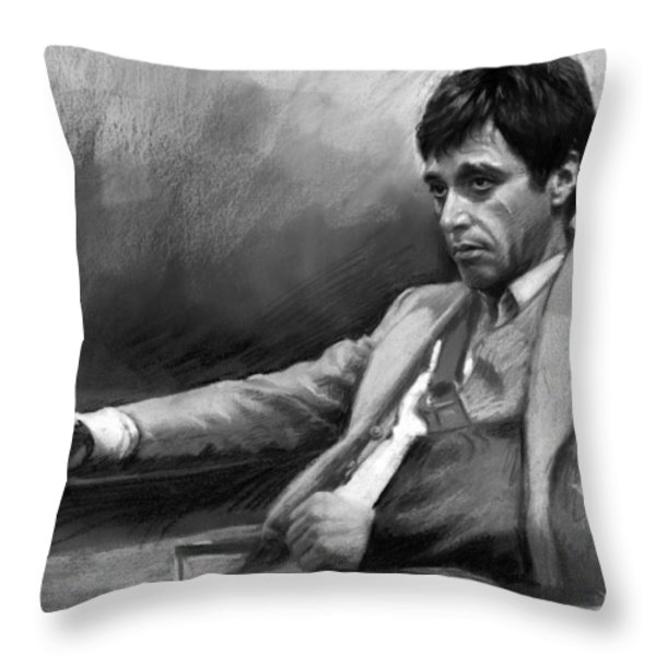 Scarface 2 Throw Pillow by Ylli Haruni