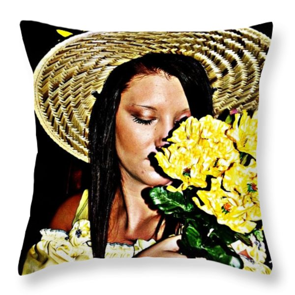 Scent Of Summer Throw Pillow by Cindy Nunn