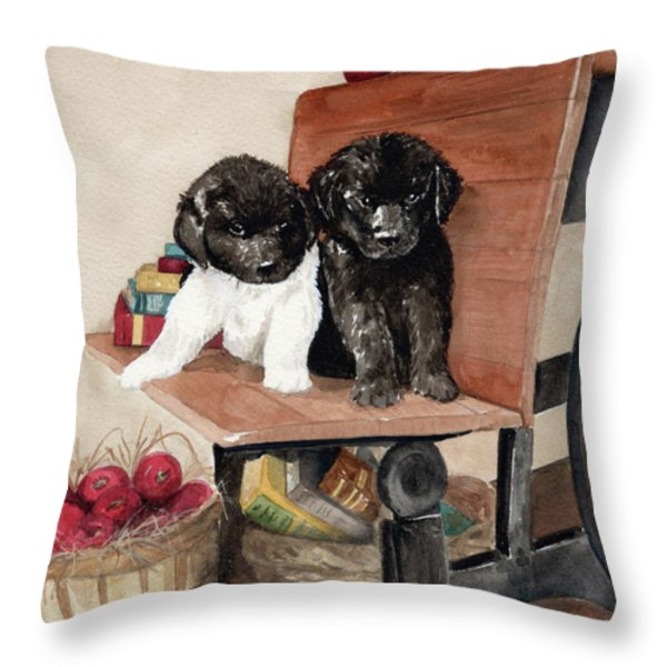 School Days Throw Pillow by Nancy Patterson