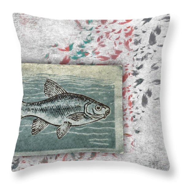Schools 2 Throw Pillow by Carol Leigh