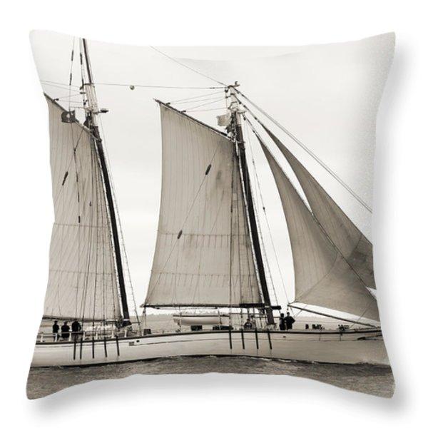 Schooner Harvey Gamage of Islesboro Maine Throw Pillow by Dustin K Ryan