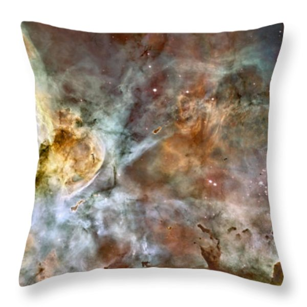 Scientists Add Colors Based On Light Throw Pillow by ESA and nASA