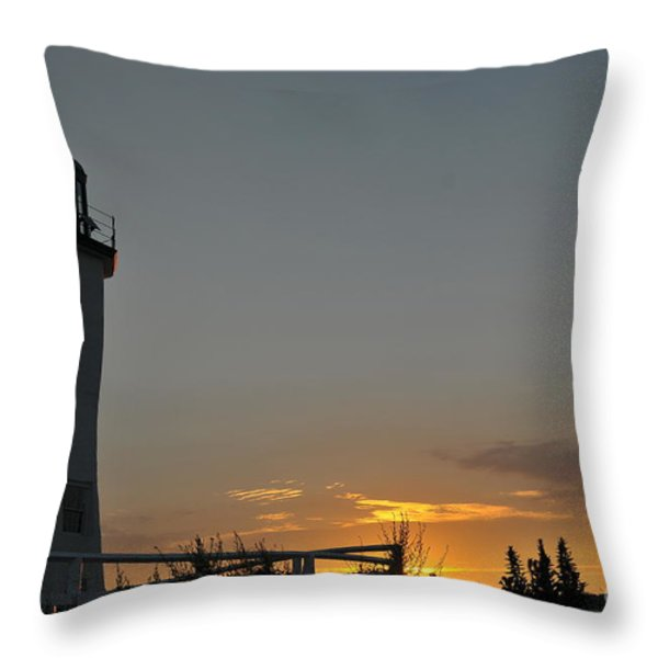 Scituate Light Throw Pillow by Catherine Reusch  Daley